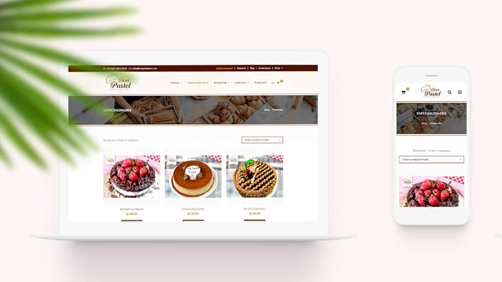 desarrollo de tienda online Don Pastel